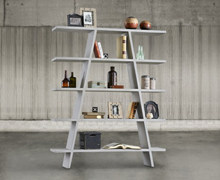 Bookcase with 5 shelves, old wood | 170x140x30 | Decord.gr