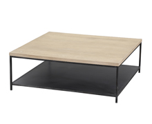 Coffee Table Edith oak steel 100x100x35 | Decord.gr