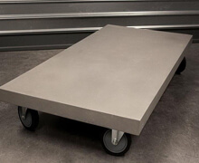Concrete Coffee Table on Wheels | Decord.gr