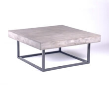 Light Grey Cement Top with Steel Base | Decord.gr