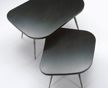 Mombares Pillole Coffee & Side tables with Black Matt Fiberglass | Decord.gr