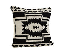 Cushion Cover Pure Cotton White Black | Decord.gr