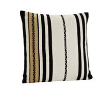 Cushion Cover Pure Cotton White Sand Black | Decord.gr