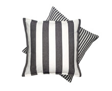Cushion White & Black Stripes 50x50 | Decord.gr