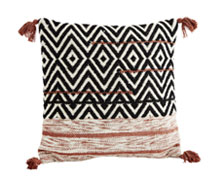 Wool Cotton Cushion Cover Tassels | Decord.gr