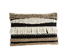 Wool Cotton Cushion Cover with Fringes | Decord.gr