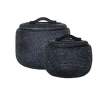 Black Rattan Baskets | Decord.gr