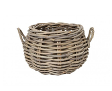 Fireplace Basket Wood Rattan | Decord.gr