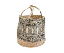 Jute Bag Natural Black | Decord.gr