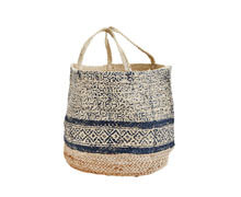 Jute Bag Natural Blue | Decord.gr