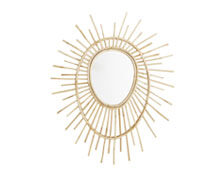 Oval Mirror Bamboo | Decord.gr