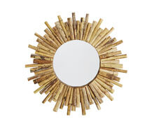 Round Mirror Bamboo Natural | Decord.gr
