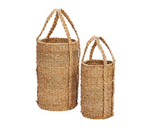 Set of Two Baskets Natural Rattan | Decord.gr