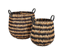 Set of Two Hyacinth Baskets Noir | Decord.gr