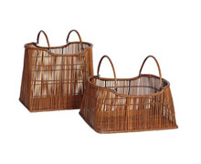 Set of Two Reed Wood Baskets | Decord.gr