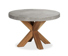 Dining Table Round Concrcete Wooden | Decord.gr