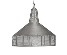 Lamp, Round, Fil de fer, Grey, ø54xh50cm | Decord.gr