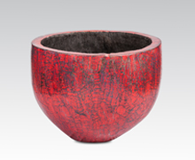 Old Palm Tree Pot Red Finish | Decord.gr