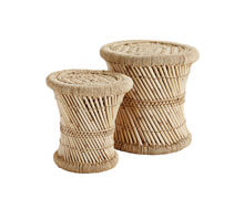 Bamboo Stools Set Of | Decord.gr