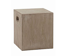 Fiberflex Stool Square Wood | Decord.gr