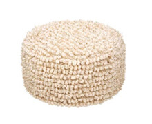 Indoor Pouf Beige | Decord.gr