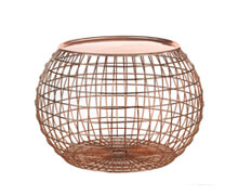 Nest Side Table Copper Finish | Decord.gr