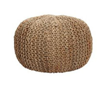 Pouf round Knitted Seagrass | Decord.gr