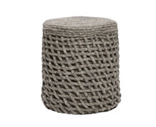 Pouf round Knitted wool Dark Grey | Decord.gr