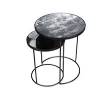 Set Side Tables Cement Metallic Base | Decord.gr