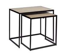 Side Table Luca Oak veneer metal 60x42x50 | Decord.gr