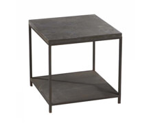 Side Table Marcel Metal Stone Rect 50x50x50 | Decord.gr