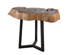 Side Table Suar Trunk Iron Base | Decord.gr