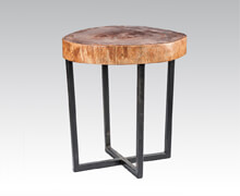Side Table Suar Wood With Iron Solid Base | Decord.gr