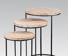 White Wash Old Teak Side Tables | Decord.gr