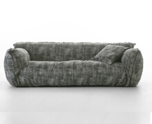 Relax Sofa 3 Seats Cotton Fabric | Decord.gr